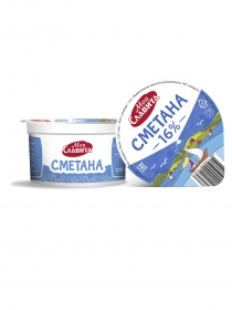 SOUR CREAM WITH MASS FRACTION OF FAT 16%