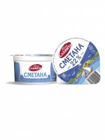 SOUR CREAM WITH MASS FRACTION OF FAT 22%